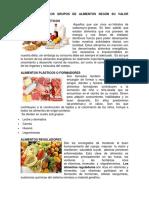 354444804 Clasificacion Los Grupos de Alimentos Segun Su Valor Nutritivo