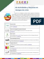 Compendio de Actividades y Recursos en Tiempos de Crisis - PACES 2019