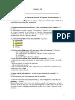 Examen de Proceso de Seleccion de Personal