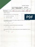 MAE 243 Exam 1 WVU 2013