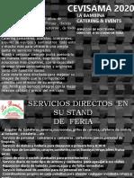 Cevisama 2020 servicios de catering directos a Stand de Feria