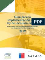 Guía Para La Implementación de La Ley de Inclusión Laboral - 2019