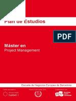 Plan de Estudios - Master en Project Management