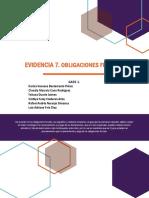 Evidencia 7. Informe Obligaciones Tributarias