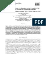 Comparação  Entre a Energia Nuclear e as Principais Fontes de energia no Cenário Brasileiro