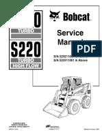 Bobcat S220 523211001 Service Manual