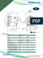 Fuji Electric VFZ501A 7W Datasheet