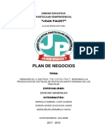 Formato de Plan de Negocios Grupo #2 Domingo