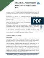 Especificaciones Tecnicas Red de Agua Potable