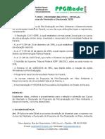 Edital 07-2019 - Processo Seletivo - Ppgmade - Turmas de Mestrado e Doutorado 2020