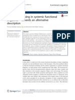 Clause Complexing in Systemic Functional - Towards an Alternative Description