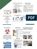 Bioseguridad en El Personal de Enfermeria Folleto