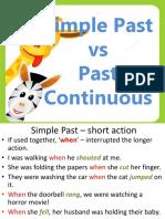 Simple Past vs Past Continuous