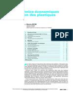 Aspects Technico-Économiques de l'Utilisation Des Plastiques