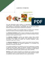 Taller Alimentos y Nutrientes