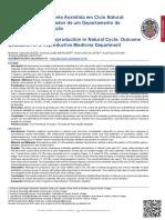 Procriação Medicamente Assistida Em Ciclo Natural 2019