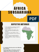 África subsaariana - trab geo
