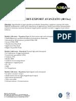 Corso Import Export Avanzato 40h
