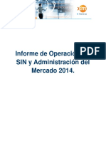 Informe de operación SIN