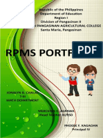RPMS Cover Page for T I III