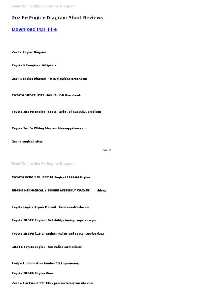 2nz Fe Engine Diagram | Engine Technology | Propulsion