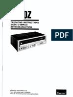 Sansui 3900Z - Operating Instructions