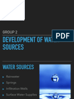 Development of Water Sources
