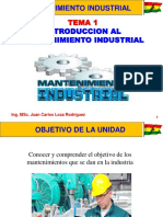 Tema 1 Introduccion Al Mantenimiento Industrial