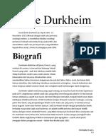biografi Émile Durkheim