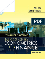 Python Guide for Introductory Econometrics for Finance