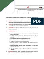 08 - Procedimiento de Limpieza y Desinfección de Frutas y Hortalizas
