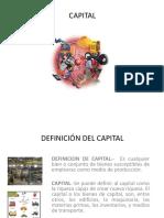 Capital y su clasificación