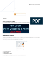 Uipath Certification Quiz Answers - Learn RPA Online Free