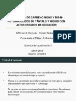COMPLEJOS DE CARBENO MONO Y BIS-N-HETEROCÍCLICOS DE TÁNTALO Y NIOBIO CON ALTOS ESTADOS DE OXIDACIÓN
