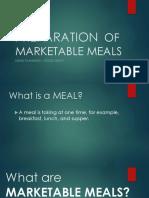 Preparation of Marketable Meals
