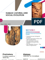 Human Cultural and Social Evolution