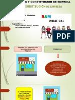 constitución de empresa y flujo de caja proyectada