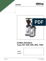 instruction manual Grinding machine