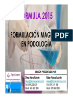 formulacion magica en podologia