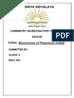 Electrolysis of Ki