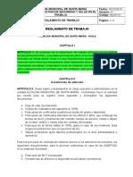 2.1.1 Reglamento de Trabajo - Act 2019