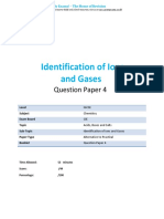 13.4 Identification of Ions and Gases CIE IGCSE Chemistry Practical QP