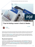 7 Tips for Finding a Master's Thesis in Sweden _ Study in Sweden_ the Student Blog