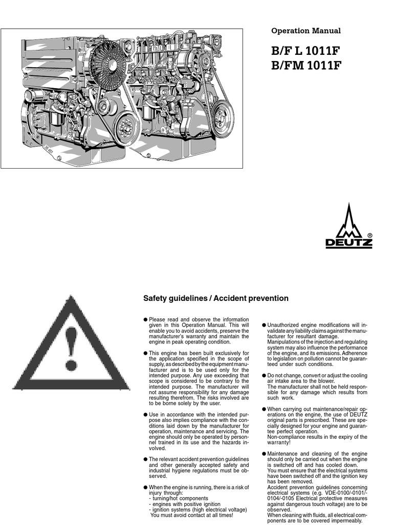 Deutz Engine Wiring Diagram Library Schematics 1011 Internal Combustion Motor Oil Regulator Alternator