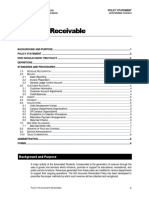 Policy on Accounts Receivable
