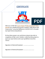 DMRC Certificate and Acknowledgement