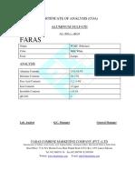 Aluminum Sulfate COA