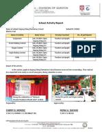 School Activity Report DRRM