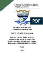 Tipos de Investigacion Monografia Acabada