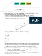 PHYS 1120 1D Kinematics Solutions